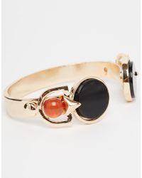 Asos Curve | Metallic Statement Farrah Open Cuff Bracelet | Lyst
