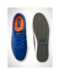 Polo Ralph Lauren - Blue Leather Hanford Sneaker for Men - Lyst