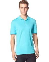 Calvin Klein | Blue Logo Polo for Men | Lyst