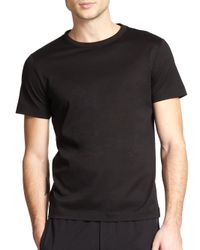 Theory | Black Andrion Mercerized Cotton Pique Tee for Men | Lyst
