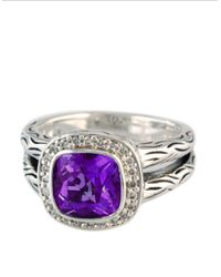 Effy | Metallic Balissima Amethyst Ring With Diamonds In Sterling Silver 0.18 Ct. T.w. | Lyst