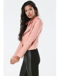 Bebe | Brown Nikki Zipper Jacket | Lyst