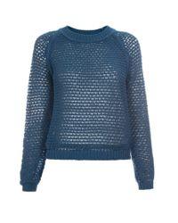Paul Smith | Blue Women'S Petrol Bobble-Stitch Crochet Sweater | Lyst