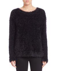 Generation Love - Black Fuzzy Knit Pullover - Lyst
