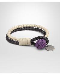Bottega Veneta - Black Nero Sand Monalisa Intrecciato Drap Calf Bracelet - Lyst
