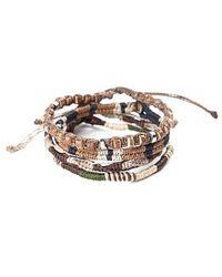 Wakami - 4 Strand Earth Bracelet (brown Multi) - Lyst