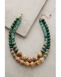 Anthropologie - Green Rona Layered Necklace - Lyst