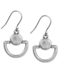 Lucky Brand - Metallic Mini Doorknocker Earrings - Lyst