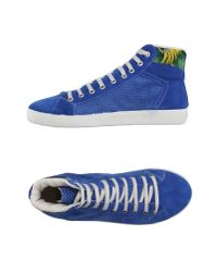 Springa - Blue High-tops & Trainers for Men - Lyst