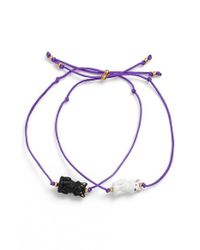 Venessa Arizaga | 'purrfect' Bracelets - Purple (set Of 2) | Lyst