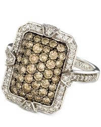 Le Vian | Metallic Chocolate And White Diamond Ring (1-3/8 Ct. T.w.) In 14k White Gold | Lyst