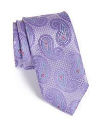 John W. Nordstrom - Purple 'spacey' Paisley Silk Tie for Men - Lyst