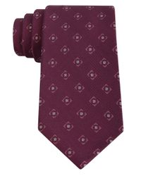 DKNY | Purple Patterned Silk Tie for Men | Lyst