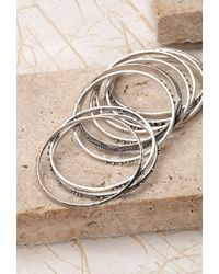 Forever 21 | Metallic Mixed Bangle Set | Lyst