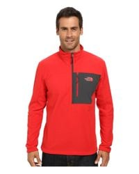 The North Face - Red Tech 100 1/2 Zip for Men - Lyst