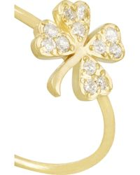 Jennifer Meyer - Metallic 18-Karat Gold Diamond Four-Leaf Clover Ring - Lyst