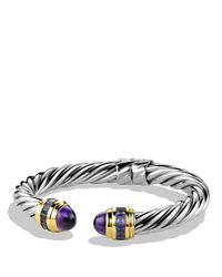 David Yurman | Metallic Renaissance Bracelet With Amethyst, Iolite & Gold | Lyst