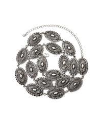 Forever 21 - Metallic Concho Bead Belt - Lyst