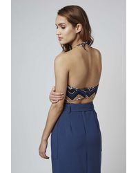 fea4f9cafd2 Topshop Fonda Crop Top By Motel in Brown - Lyst