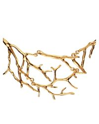 Diane von Furstenberg | Metallic Twig Gold-Plated Necklace | Lyst