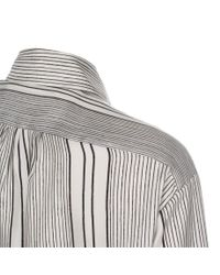 Paul Smith - Women'S White Hand-Drawn Stripe Oversized Silk Shirt - Lyst