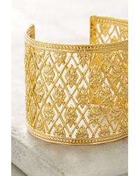 Anthropologie | Metallic Merveille Cuff | Lyst