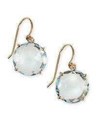 KALAN by Suzanne Kalan - 14k Yellow Gold Wire Drop Earrings In Blue Topaz - Lyst