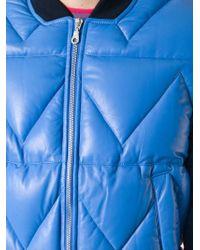 KENZO - Blue Padded Bomber Jacket for Men - Lyst