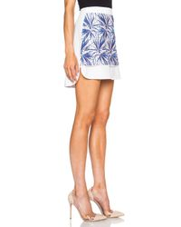 MSGM - Blue Applique Cotton-blend Skirt - Lyst