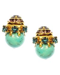 Elizabeth Cole | Blue Alden Earrings, Turquoise | Lyst