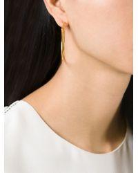 Alighieri | Metallic 'il Leone' Hoop Earrings | Lyst