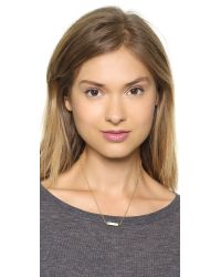 Marc By Marc Jacobs | Metallic Tiny Enamel Plaque Necklace Cream | Lyst
