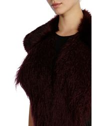 Coast - Red Luxe Fluffy Tippet - Lyst