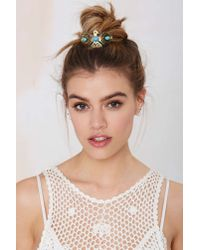 Nasty Gal | Metallic Kitsch Thunderbird Bun Pin | Lyst