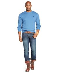 Polo Ralph Lauren | Blue Big And Tall Cotton Crewneck Sweatshirt for Men | Lyst