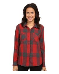 Splendid | Red Wildwood Plaid Shirting | Lyst