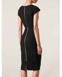 Roland Mouret - Black Crepe Hirta Dress - Lyst
