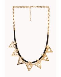Forever 21 | Metallic Edgy Faux Leather Cord Necklace | Lyst
