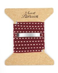 Ursul | Purple Le Lacet Parisien Burgundy Cotton Lace-up Bracelet for Men | Lyst