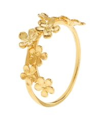 Alex Monroe | Metallic Forget Me Not Stacking Ring | Lyst