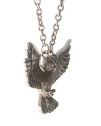 ASOS - Metallic Necklace with Owl for Men - Lyst