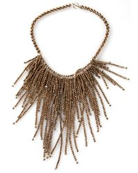 Brunello Cucinelli | Brown Hematite Fringe Necklace | Lyst