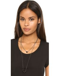 Adia Kibur - Gray Laura Necklace - Hematite - Lyst