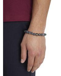Simon Carter - Gray Grey Beaded Skull Bracelet for Men - Lyst