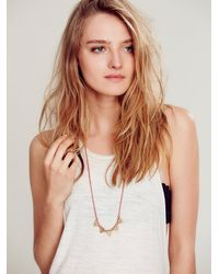 Free People - Metallic Triangle Tassel Necklace - Lyst