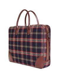 Brooks Brothers - Blue Signature Tartan Briefcase for Men - Lyst