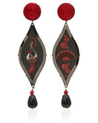 Anna E Alex | Red Opera Carmen Drop Earrings | Lyst