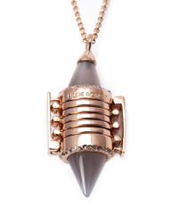 Eddie Borgo - Metallic Inlaid Bi-cone Pendant Necklace - Lyst