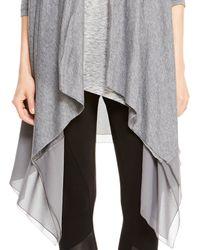 DKNY | Gray Pure Drape Front Cozy | Lyst