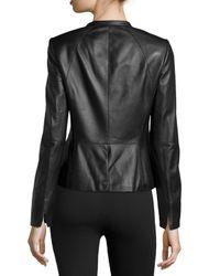 Lafayette 148 New York - Black Moto Leather Jacket - Lyst